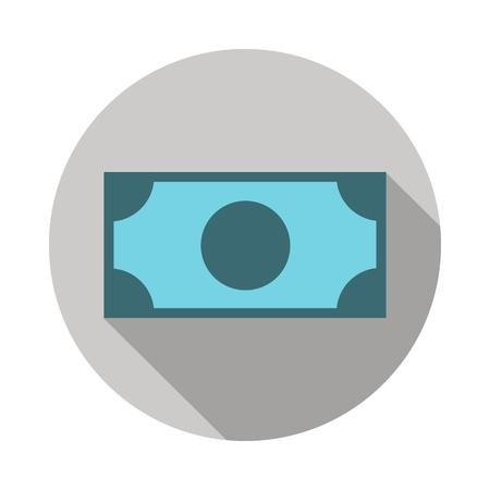 Money banknote icon Illustration