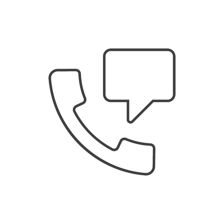 Speech bubble from handset outline icon