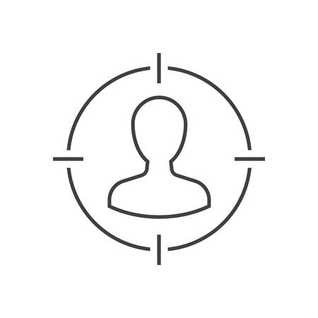 Icône de contour du public cible Vecteurs