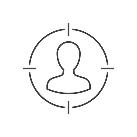 Target audience outline icon Ilustración de vector