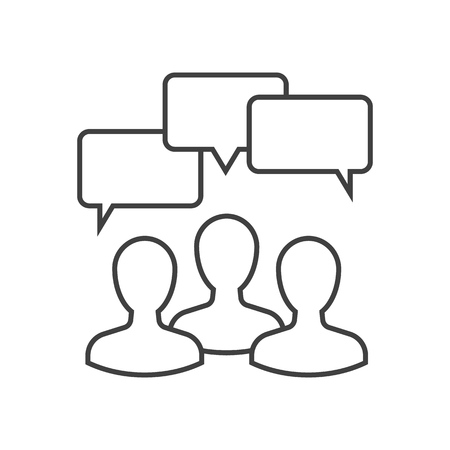 Discussion outline icon on white