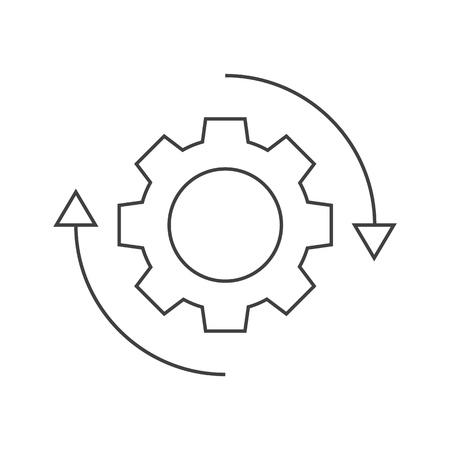 Icône de rotation des engrenages