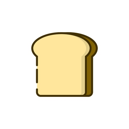 Toast bread icon. Breakfast illustration