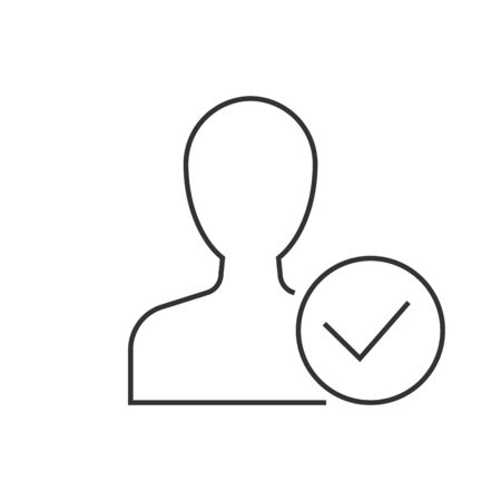 Man avatar with approve check mark symbol