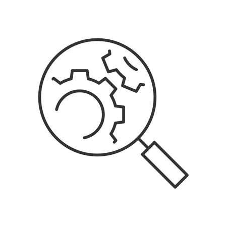 Search engine optimization line icon on white background  イラスト・ベクター素材