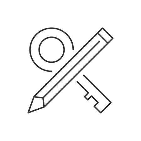 Keywords linear icon on white background. Vector illustration Ilustração