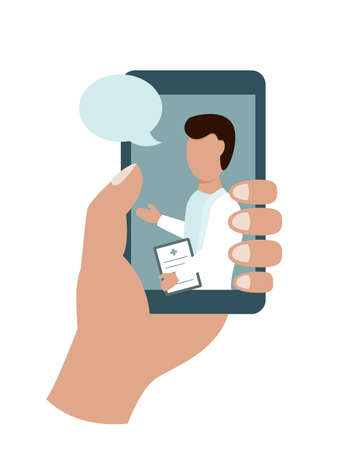 Online doctor in your hand. Phone consultation