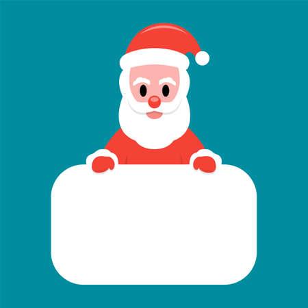 Santa Claus holding white board Çizim