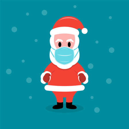 Santa Claus in protective face mask