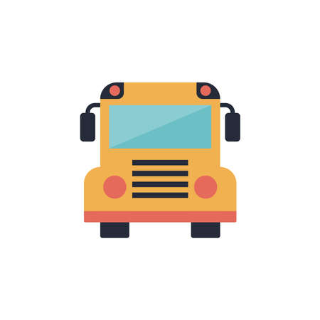 School bus flat icon. Vector illustration