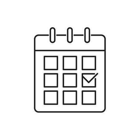 Calendar line icon. Editable stroke