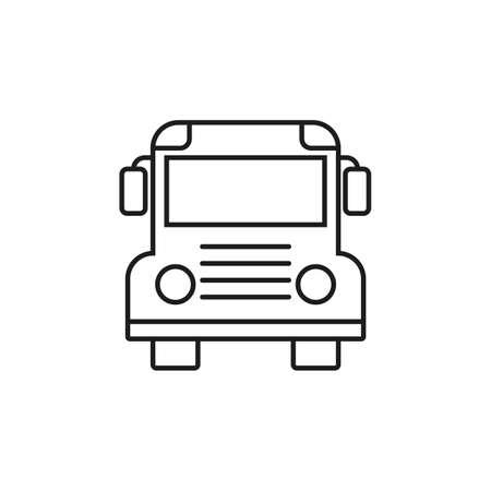 School bus line icon. Vector illustration