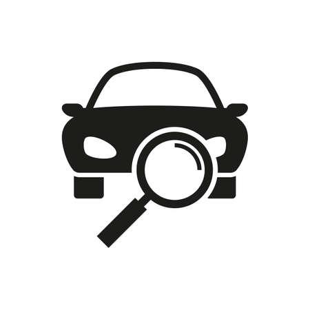 Car diagnostics black icon. Vector illustration