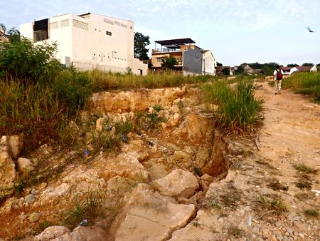soil erosion: Soil erosion in Batam Stock Photo
