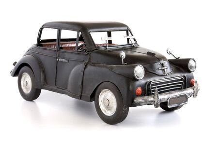 Classic English style toy car, isolated on white. Stock Photo - 6878927