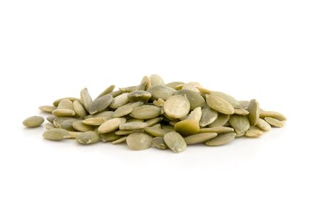 macrobiotic: Pumpkin seed isolated on white background.