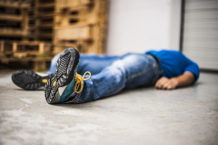 infarct: accident at work Stock Photo