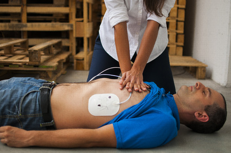 intervention: CPR Stock Photo