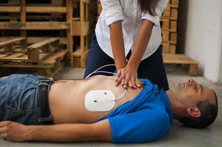 defibrillator: CPR Stock Photo
