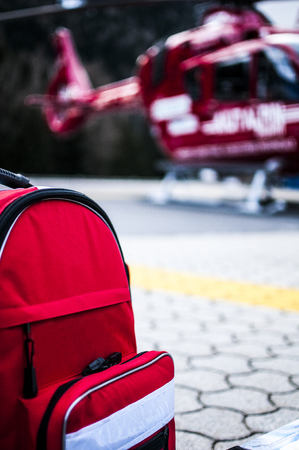 first responder: emergency bags for rescue helicopter