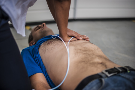 compressions: rescuer performs chest compressions