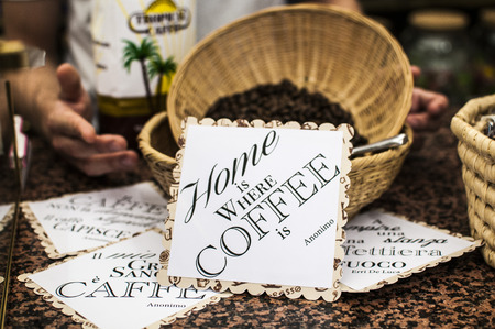 home is where coffee is Stock Photo