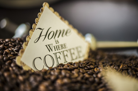 home is where coffee is Archivio Fotografico