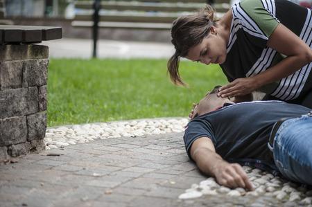 Cardiopulmonary resuscitation with CPR and defibrillator