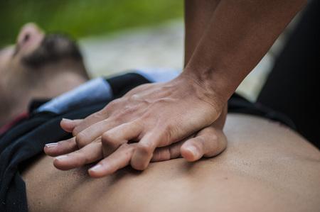respiration: Cardiopulmonary resuscitation with CPR and defibrillator