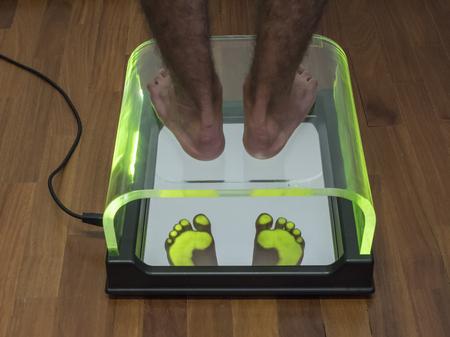 posture and equilibrium analysis by foot step scanning Zdjęcie Seryjne