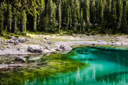 beautiful landscape in the north of the Italian mountains and lake Archivio Fotografico