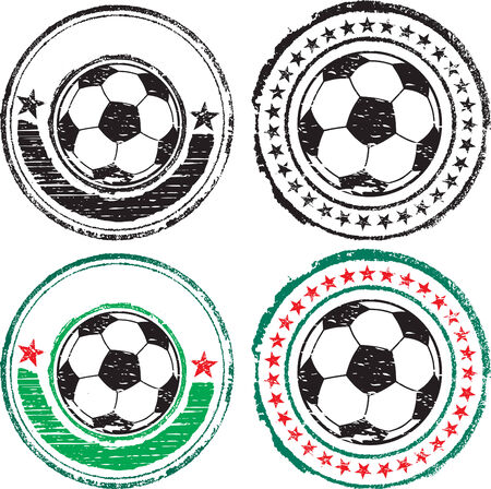 Soccer ball stamps