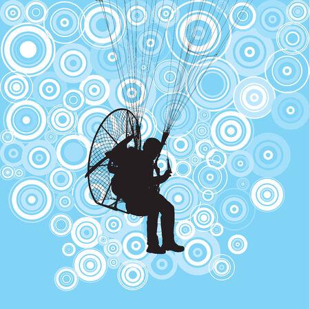 Paraglider flight Vector