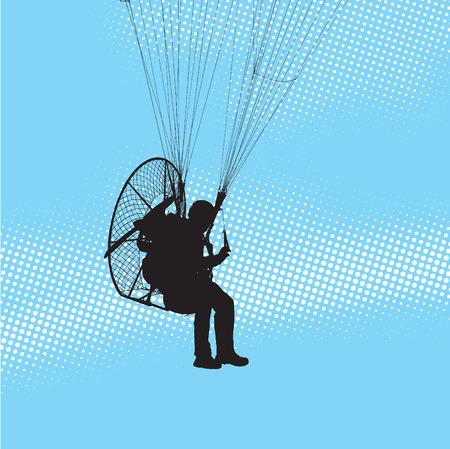 Volo parapendio  Vettoriali