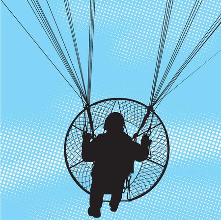 Paraglider flight