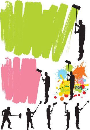 decorando: Pintor de casa  Vectores