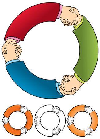 mani che si stringono: Agitando le mani simbolo