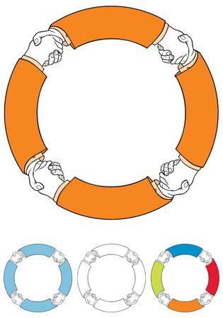 dandose la mano: Agitando las manos s�mbolo Vectores