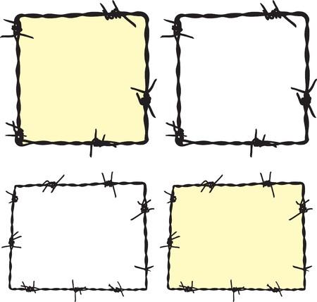 Barbwire frame