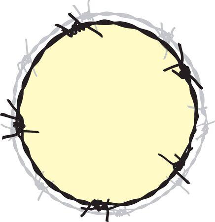 Barbwire frame Vector Illustration