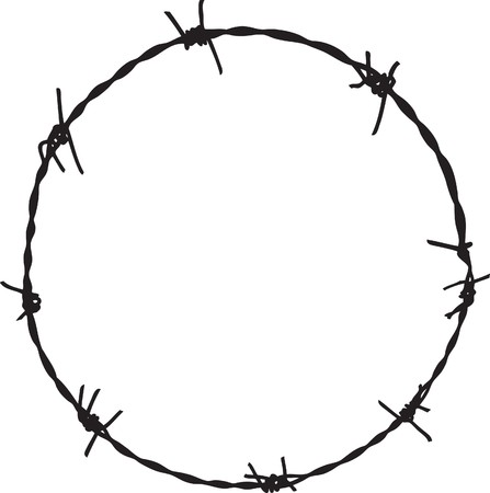 Barbwire frame Vector