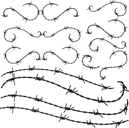 wire fence: Barbwire ornament