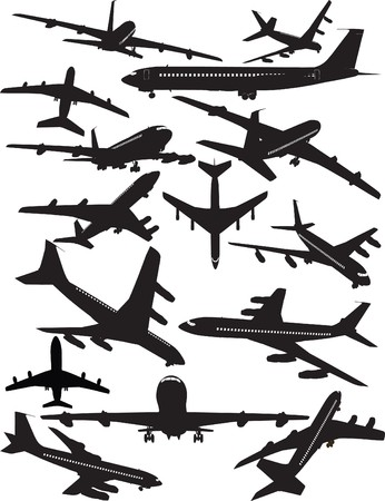 Airplane silhouettes, Boeing 707 Illustration