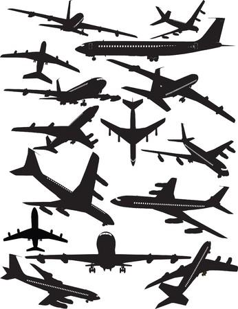 Airplane silhouettes, Boeing 707 Illustration