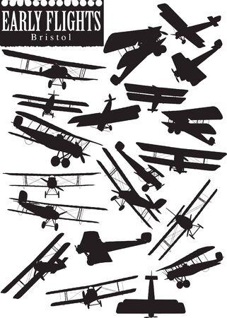 avion de chasse: D�but vol silhouettes, Bristol