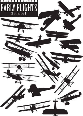 Early Flight silhouettes, Bristol Vector