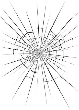 Vidrio destrozada  Ilustración de vector