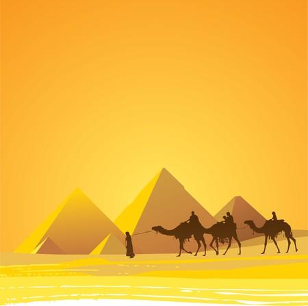 Deserto del Sahara, il Cairo  Vettoriali