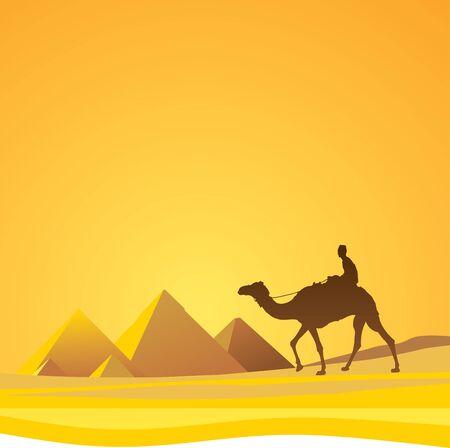 Sahara desert, Cairo Vector