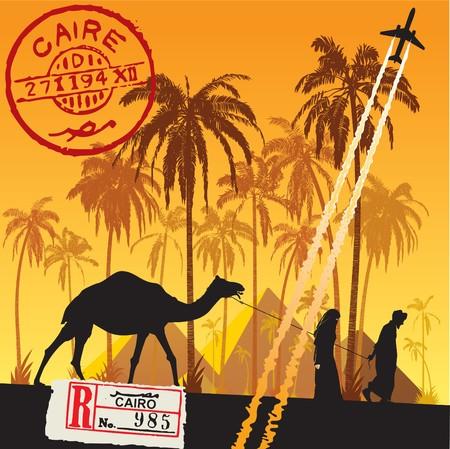 camel desert: Go to Cairo